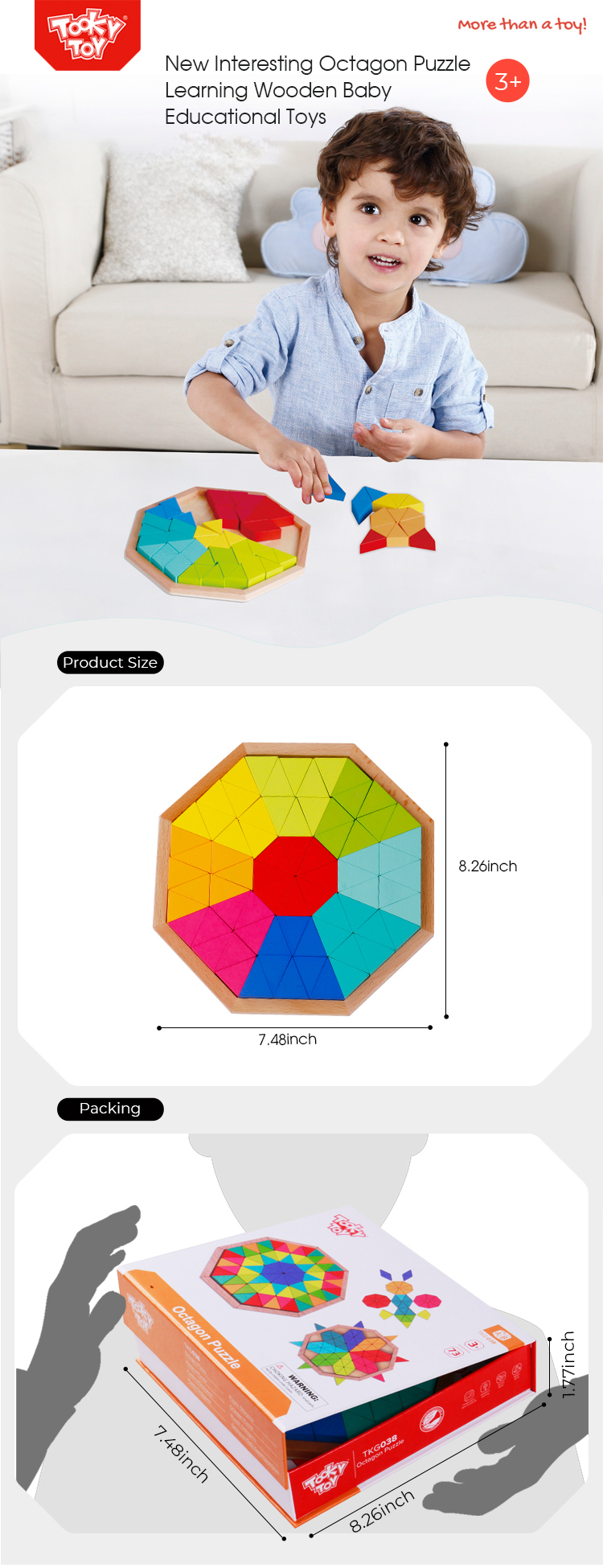 New Interesting Octagon Puzzle Learning Gift Set Wooden Children 2020 Toys For Kids