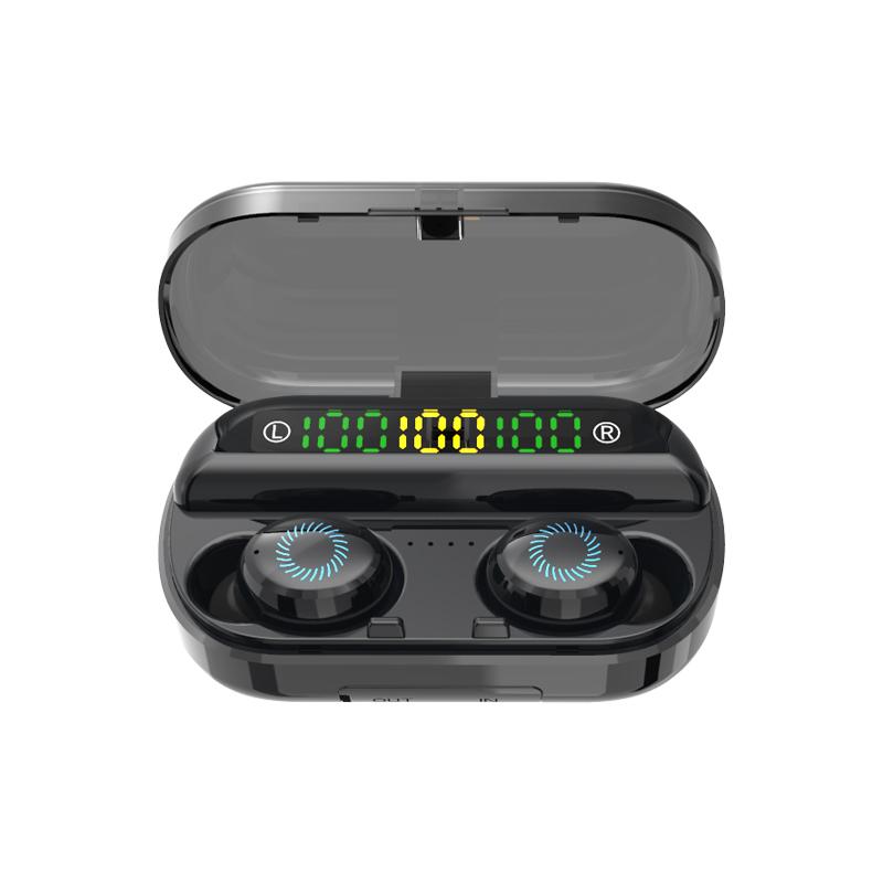 Newest V10 3 LED Power Display Wireless Earphone TWS Bluetooths 5.0 HiFi Stereo Noise Canceling Headphones Waterproof Earbuds - idealBuds Earphone | idealBuds.net