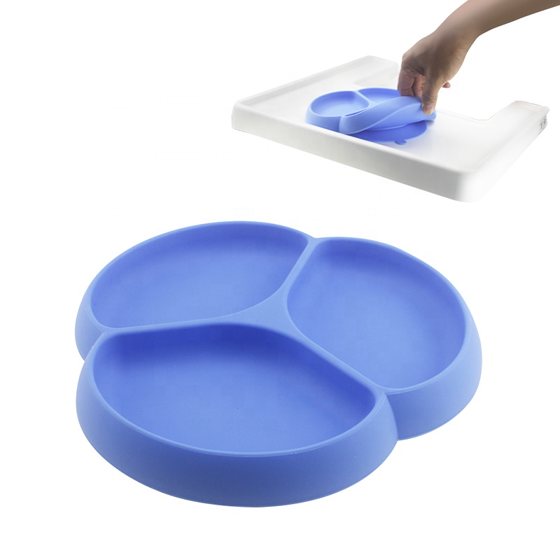 Divided silicone suction placemat <strong>plate</strong>- food grade baby silicone <strong>plates</strong>