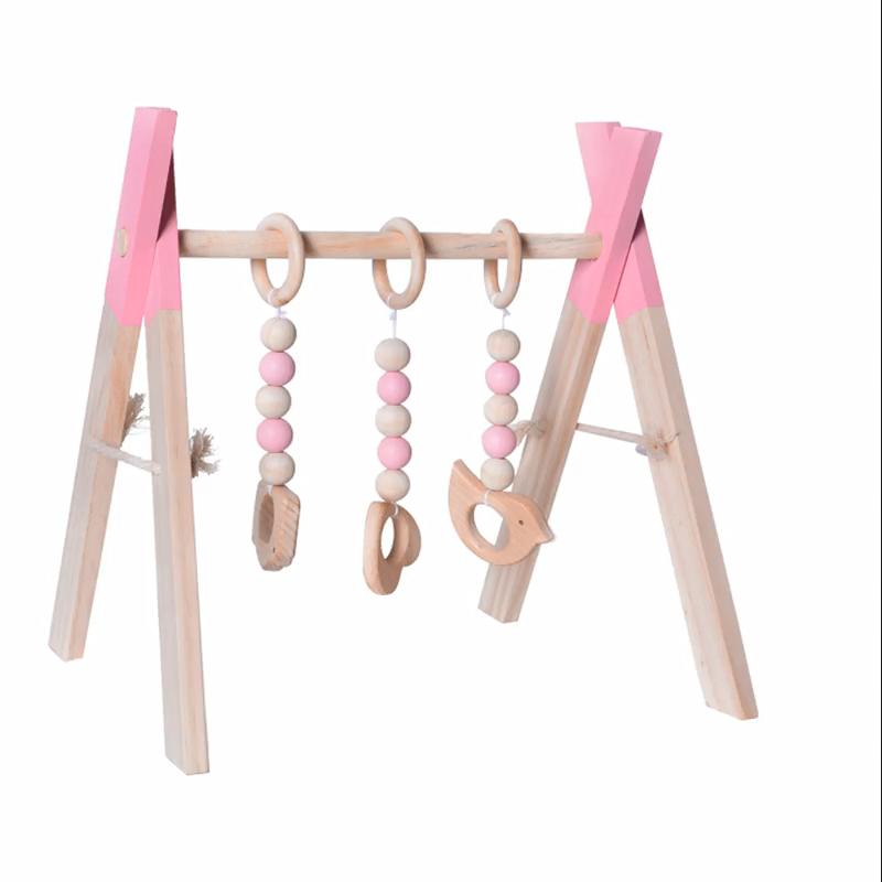 Houten Baby Gym Speelgoed Opvouwbare Spelen Matten Fitness Frame Activiteit Center Kinderen Decoratie Speelgoed