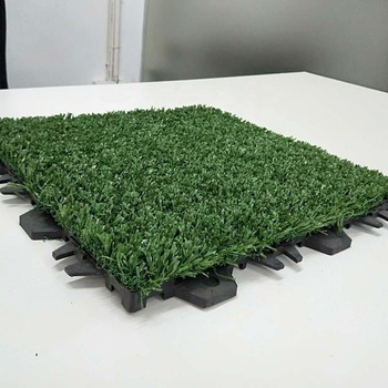 Portable model artificial grass soccer synthetic turf interlock