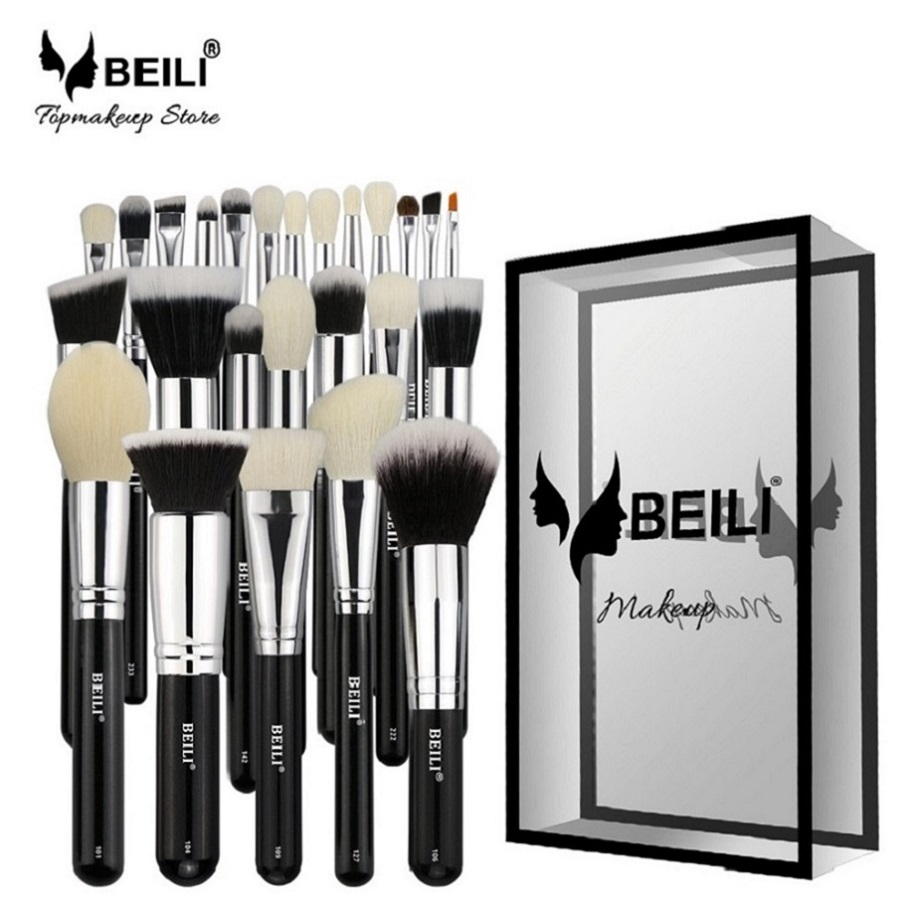 BEILI 2019 <strong>Best</strong> selling Creative Fashion makeup <strong>brushes</strong> cosmetic 25pcs For Foundation Blush Face Concealer Eyeliner Shadow <strong>brush</strong>