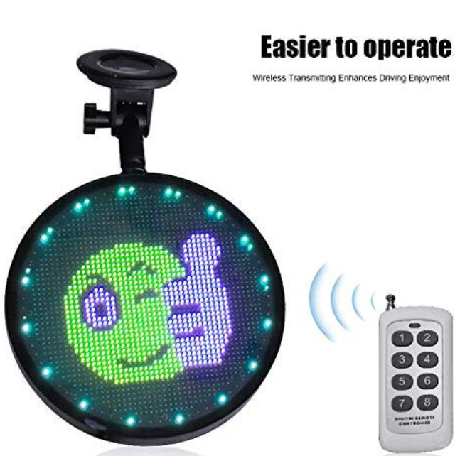 Glow Emoji LED Car Display <strong>Screen</strong> with Remote Control