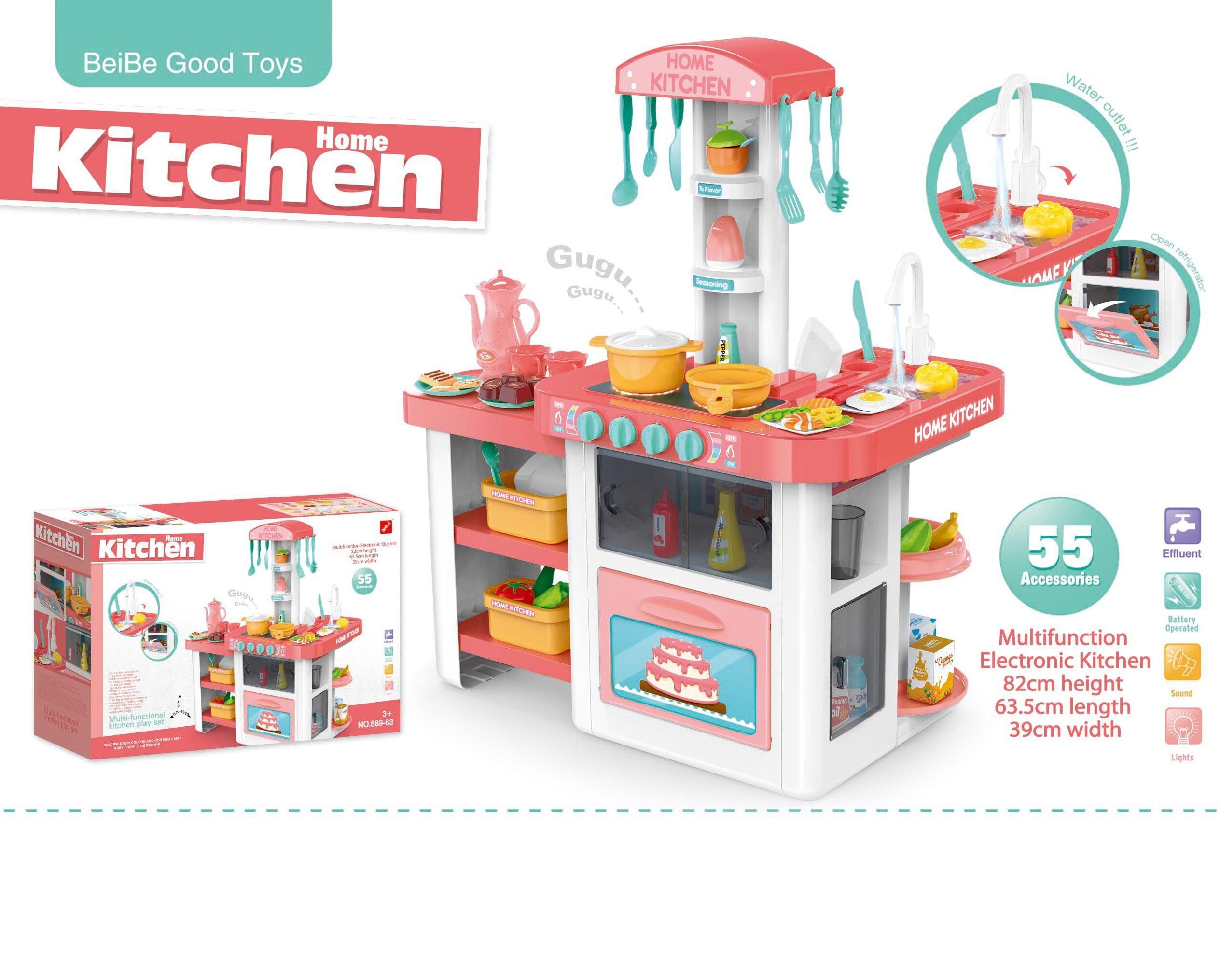 New Toys 2017 Child Toddler Toys Electronic Play Big Kitchen Set Toy For  Children Bpk01104 - Buy Toddler Toys,Child Toy,Big Kitchen Set Toy Product  on ...