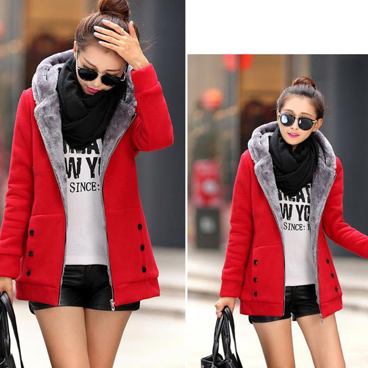 मोटा शरद ऋतु फैशन कपड़े का कारखाना थोक सर्दियों कोट Hooded कोट कोट देवियों महिलाओं