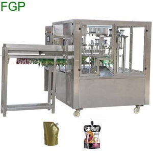 Automatic 2/4/6 nozzle standing spout pouch filling capping machine for juice/milk/drinking water doypack filling machine