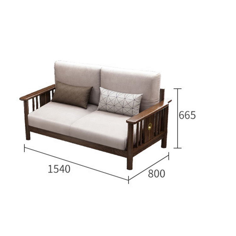 product-BoomDear Wood-China direct deal i shape custom furniture cozy walnut color fabric soild wood-2