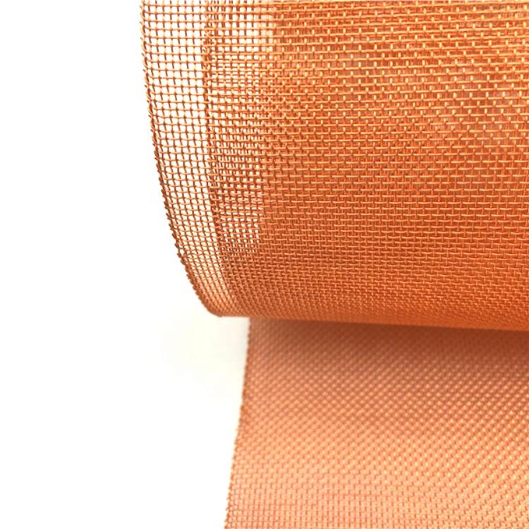 180 200 mesh faraday cage screen room pure copper wire mesh for emi shielding
