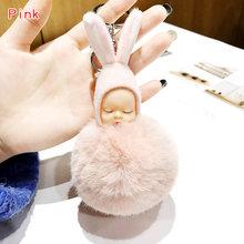 Плюшевая кукла для ключей, игрушки для девочек, сумка Kpop, аксессуары, Мягкий Кролик, брелок для ключей, Спящая кукла, Kawaii, брелок, плюшевая без...(Китай)