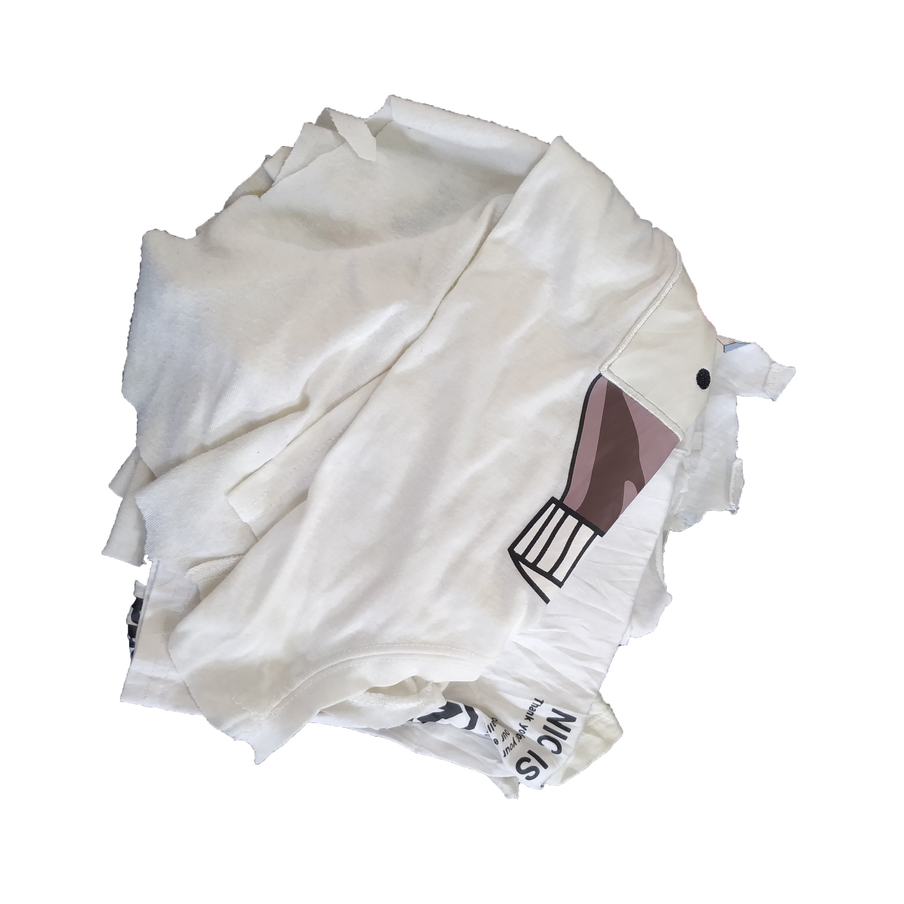 Industrial t shirt used cotton rags