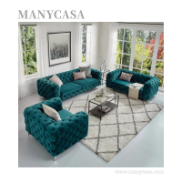 Modern Velvet Living Room Specific Use Sofas Sectionals & Loveseats Luxury Purple Sofa Chesterfield
