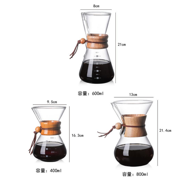 glass coffee maker with Aluminium Single Stand for Restaurant
