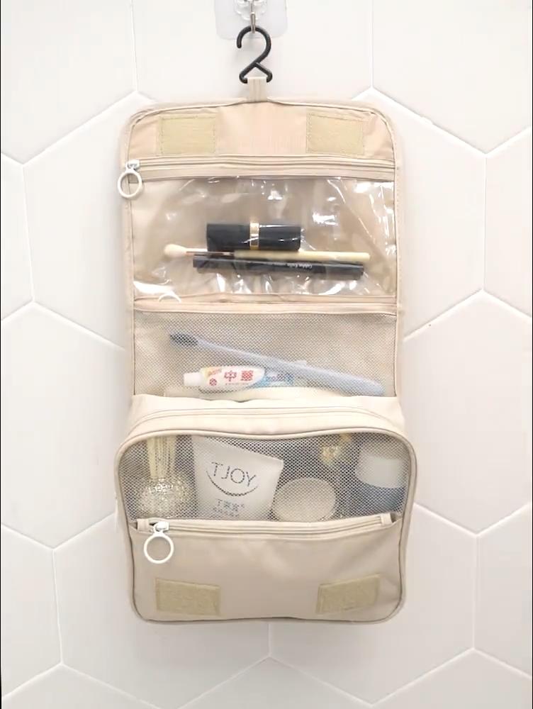 Niedrigen Preis Hängen Reise Toiletry Tasche Tragbare Wasserdichte Große Make-Up Kosmetik Tasche für Männer und Frauen