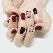 24 шт маникюрный салон Сделай Сам товары блеск розовый Короткие накладные ногти с бисером полные кончики Ногти украшения(Китай)