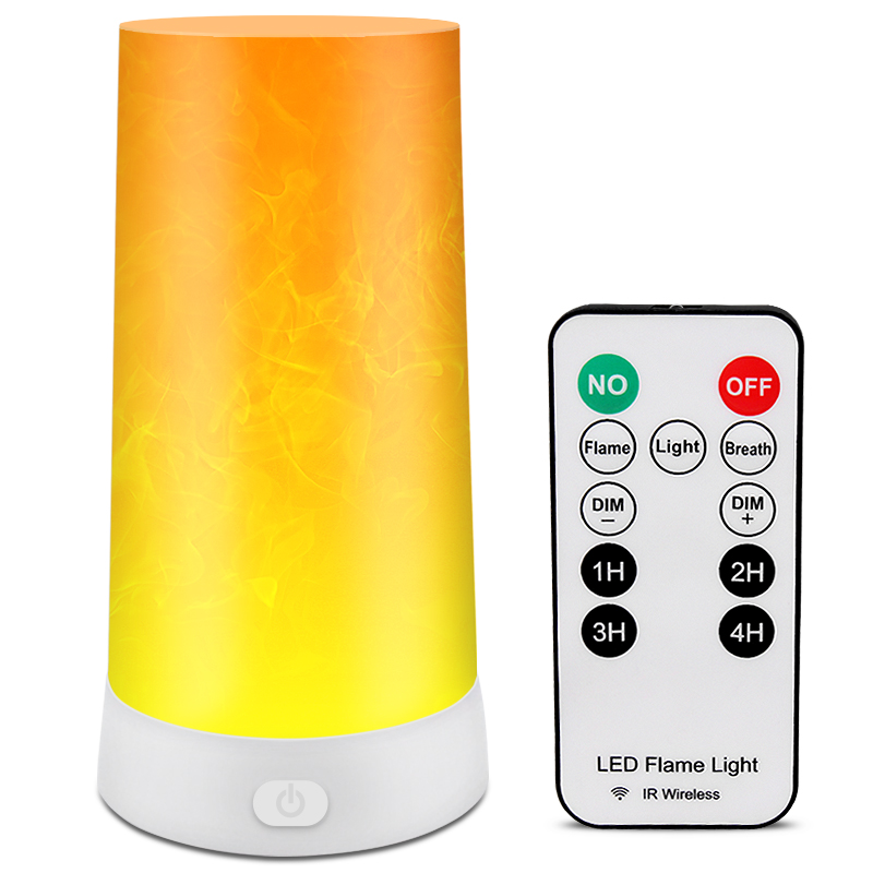 SHENPU Remote Control Fire Light Portable LED Rechargeable Flame Table Lamp