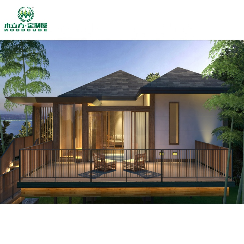 Prefab houses modern luxury villa 1 bedroom standard suite with bath