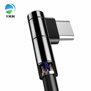 YMM YM6131 Zinc Alloy Braided hight quality 90 Degree phone charger Fast Charging USB Type C Data Cable