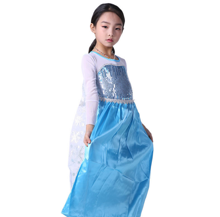 Groothandel halloween cosplay voor party naakt dress frozen prinses elsa kostuum kids