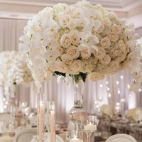 silk artificial flower rose centerpiece for wedding table flowers