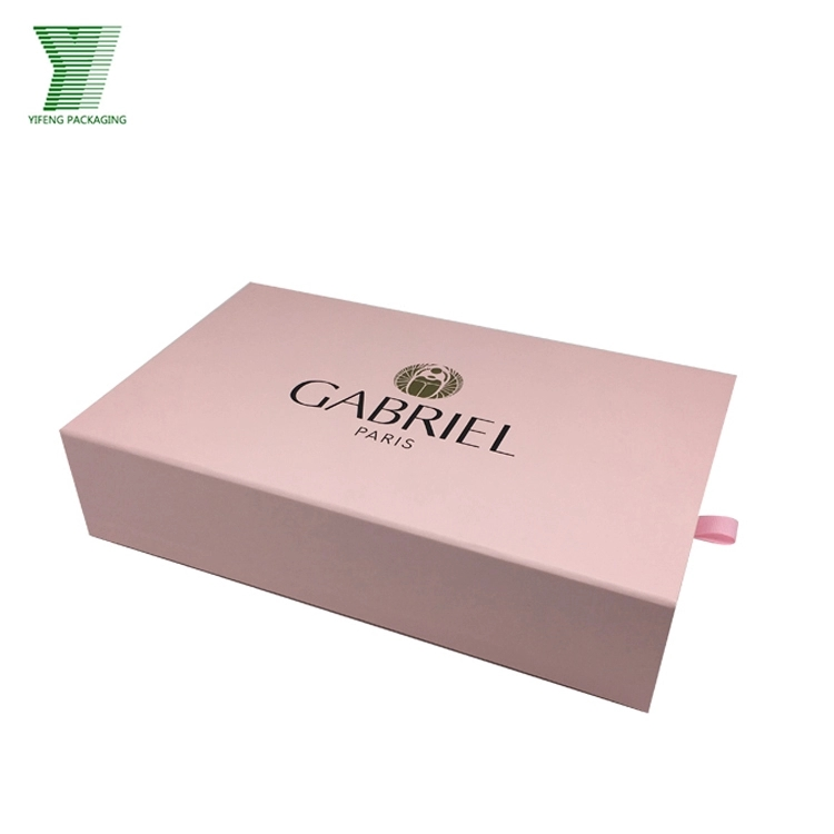Marble printed pink paper scarf box hair extension packaging box