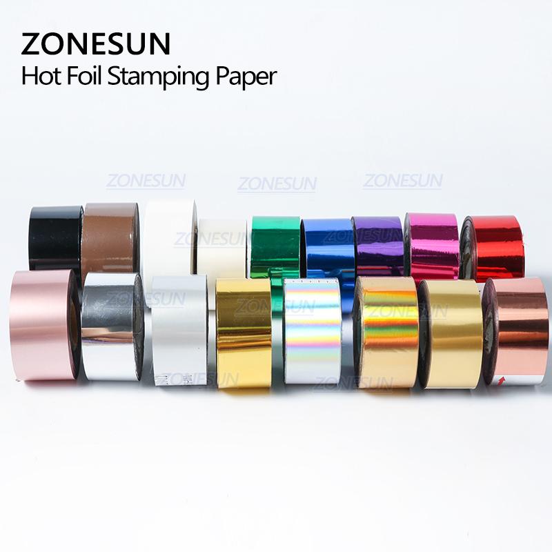 ZONESUN 5 см рулонов золотого и серебряного цвета для печати по фольге горячим тиснения бумаги теплопередачи анодированная позолоченная бумага имитация Медь лист фольга кашированая бумагой