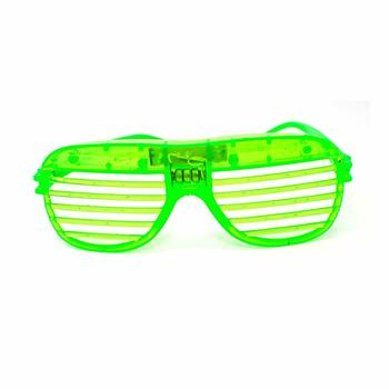 Flashing LED Shutter Glasses Light Up Slotted Party Glow Shades Sunglasses