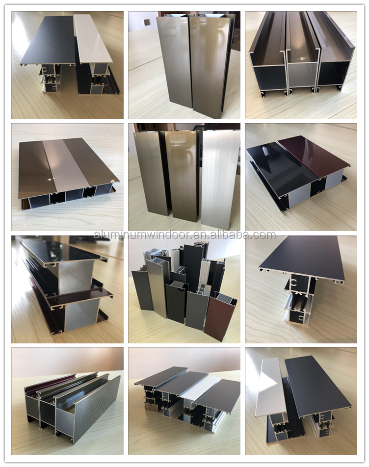 Superior Quality Sliding Casement Window Tempered Glass Door Extruded types of Aluminum extrusion Profile