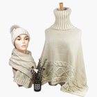 Recycled Polyester Eco Friendly Custom Winter Women Knitting Scarf