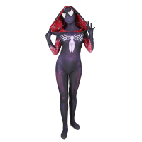 halloween Lycra 3D digital printing women's venom purple cloak big spiderman tights cosplays adults/kids clothing