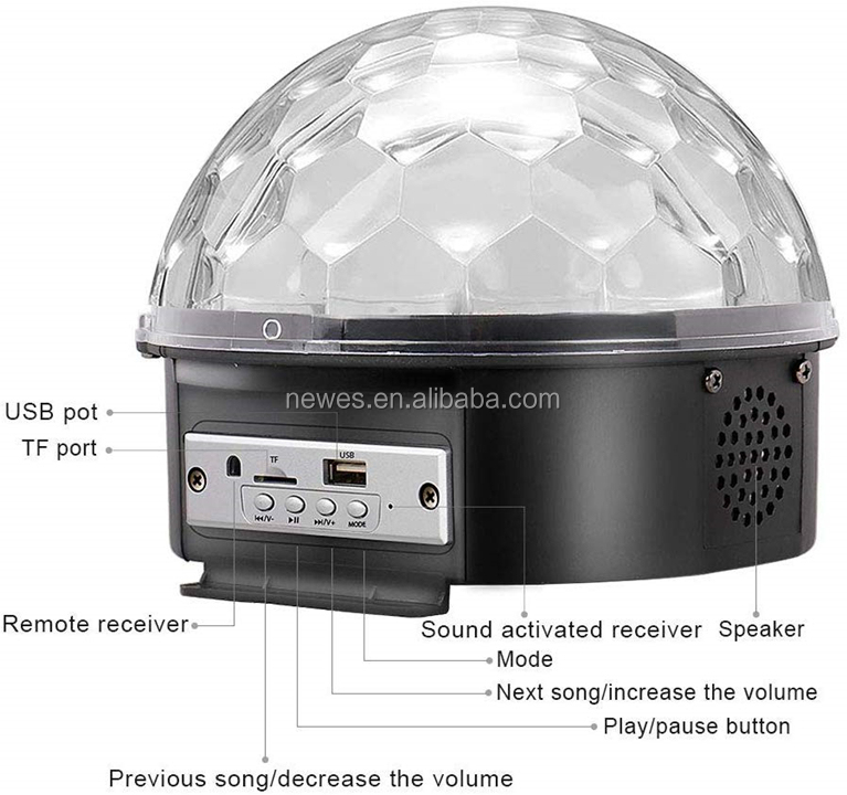 2020 Disco Ball Party Lights LED Bluetooth Stage RGB DJ Club Disco KTV Party Magic Ball Crystal led star Effect Stage Lighting