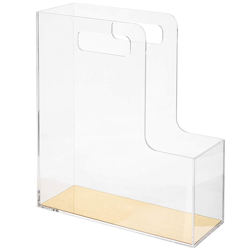 Three layers Acrylic file Display rectangle Transparent In stock