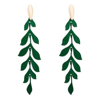 Bohemian Leaves Earrings Fashion Chic Leaf Stitching Long Pendant Earrings Feminine Glamour Romantic Jewelry