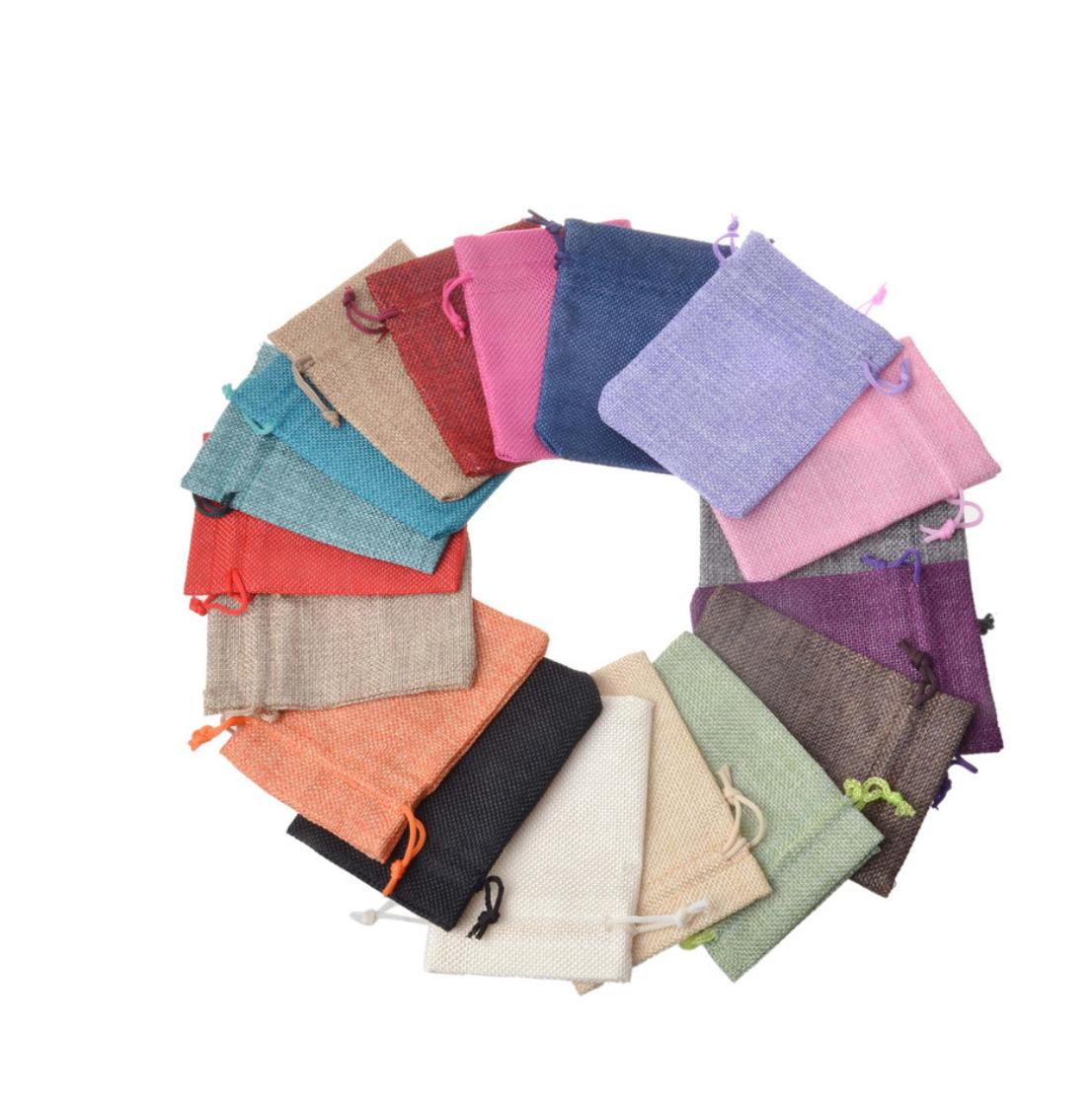 Heißer Verkauf Vintage Säcken Beutel Kordelzug Geschenk Taschen Logo Druck Schmuck Beutel für Valentinstag, Hochzeit Partei