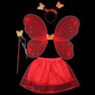 High Quality Prom Festival Costumes Fairy Butterfly Wings Skirt For Girl Children Gift Set