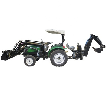 Factory directly sale 4wd 40hp tractor with front end loader and backhoe