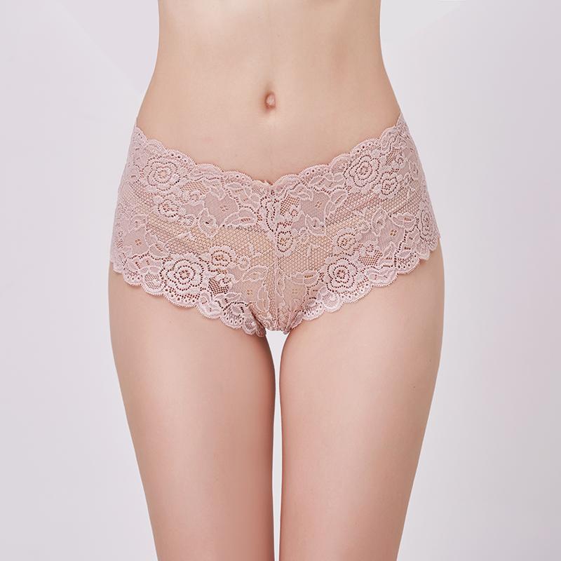 Women Soft Underpants See-through Lingerie Briefs Hipster Underwear Panties