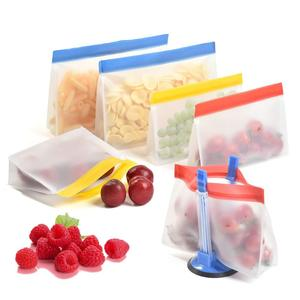 Thick Reusable Biodegradable Freezer Ziplock Food Grade Plastic PEVA Storage Sandwich Snack Bags