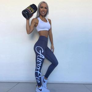 Best selling letter printed women sports fitness leggings scrunch butt fitness pants womens gym leggings