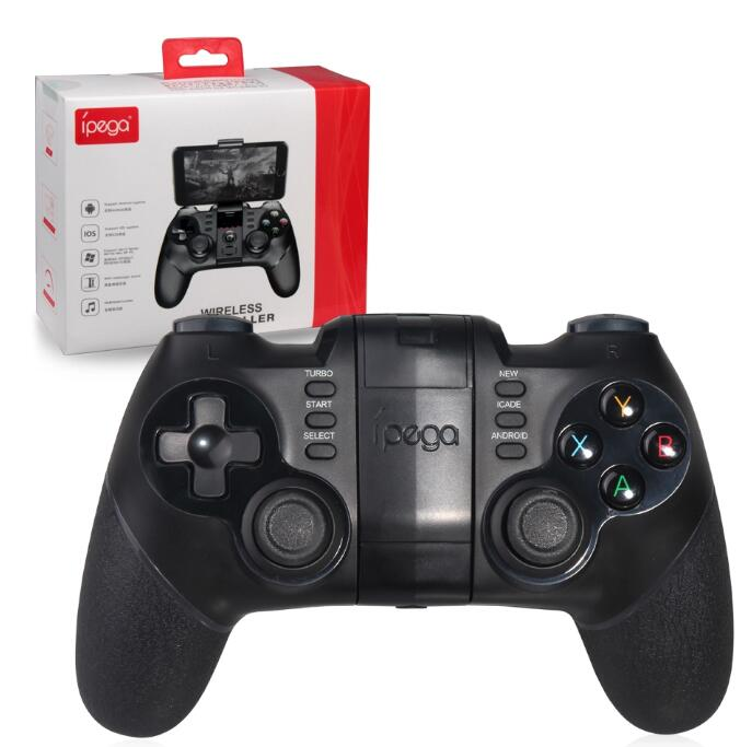 Ipega PG-9077 Game Controller Wireless Joystick Bluetooth Gamepad dengan Fungsi Turbo untuk Android Smartphone