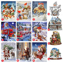 "Full Quadrado/Rodada Broca 5D DIY Pintura Diamante ""Papai Noel do Natal do Trem"" Bordado <span class=keywords><strong>Ponto</strong></span> <span class=keywords><strong>Cruz</strong></span> 5D Decor"