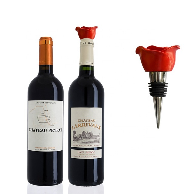 Red Rose Wine Stopper Decorative,Wine Bottle Stopper Stainless Steel,Personalised Gifts for Birthday Mothers Day Valentines Day Wedding