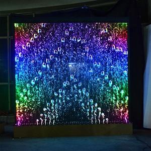 2019 hot sale digital control multi colour LED  water bubble wall bar furniture