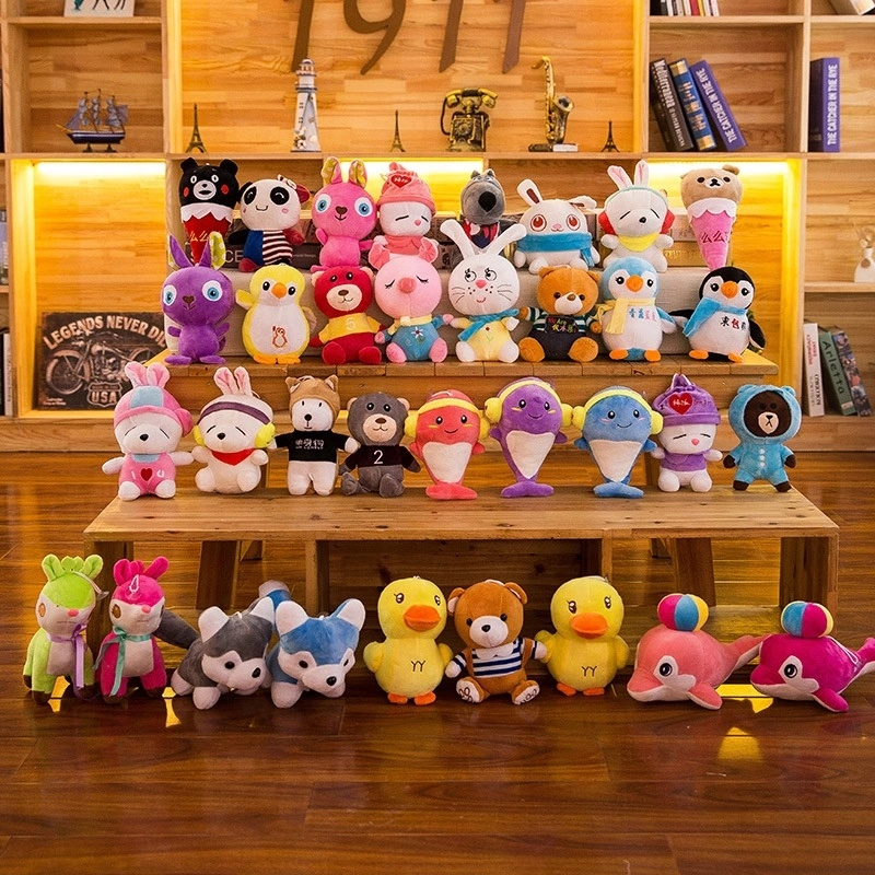 Cheapest price crane machine small toy various soft animals wholesale mini stuffed plush toys for claw machine
