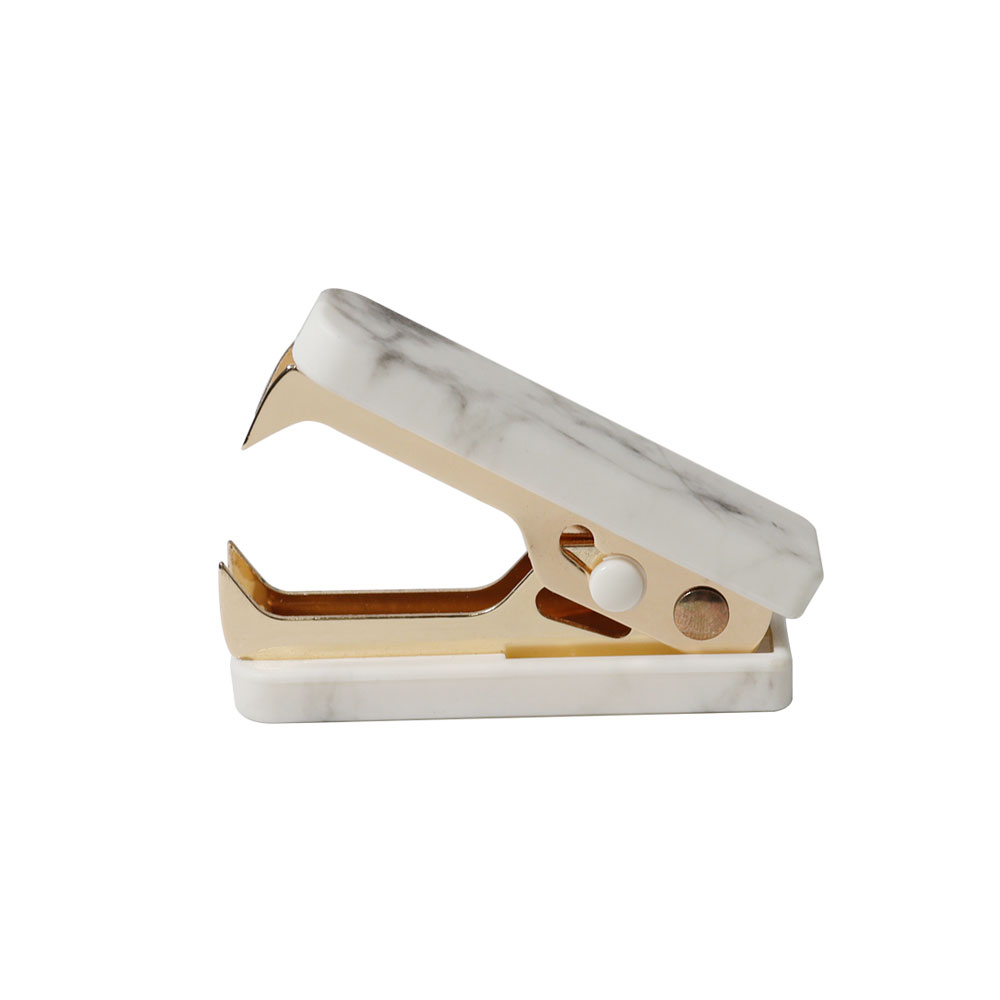Marble White Texture Series jaw type staples office supplies mini staple remover