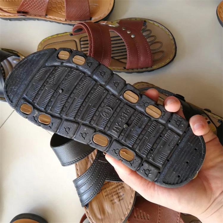 MH3262 High quality cheap summer outdoor sport men leather 2020 Men's plastic sandals zapatillas