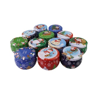 Stock Low MOQ High Quality Round Metal Packing Candy Mint Gift Candle Tins Box