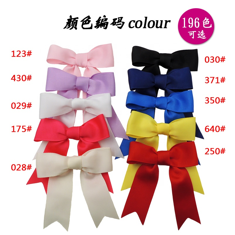In Stock Wholesale Cheap Red Grosgrain Small Elastic Ribbon Bow 25mm Pre-made Ribbon Bow For Box Decoration