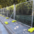 2.1*2.4m Hot Dipped Galvanized Temporary Security Fencing