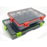 Hard Plastic Storage Case Box Plastic Fishing Lure Hook Bait Fishing Tackle Lure Box 13 Compartments 26.5*16.5*5cm 255g