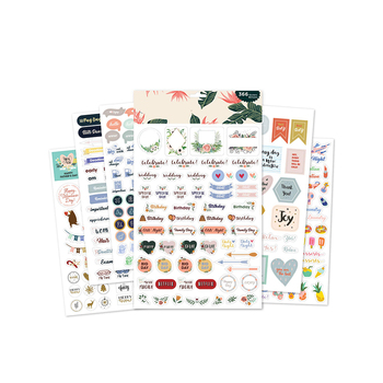 Personalized Cheap Custom Super Adhesive Journal Planner Sheet Sticker